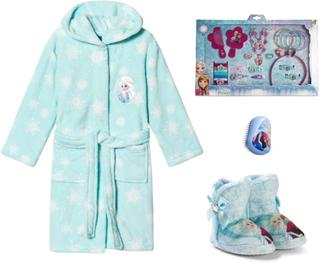 Disney FrozenPakke med Disney® Frozen tøfler + badekåpe + accessoarer + tangle Teezer