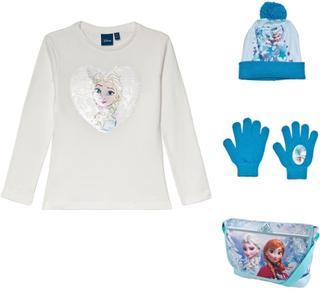 Disney FrozenPakke med Disney® Frozen veske med skulderreim + lue og vanter + langermet genser