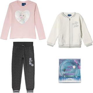 Disney FrozenPakke med Disney Frozen hårtilbehør + t-skjorte+ joggebukse + genser