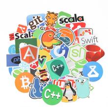 50Pcs/lot Internet Programming Stickers JS Php Docker Bitcoin Html Cloud programmer Language Funny Laptop Pad Phone Sticker