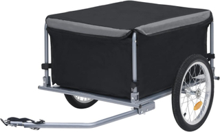 vidaXL Sykkeltilhenger svart og grå 65 kg