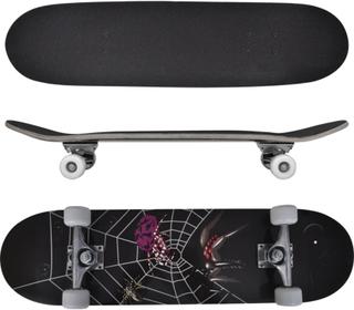 vidaXL ovalt skateboard 9 lag ahorn edderkopdesign 8