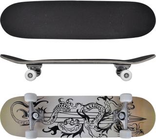 vidaXL ovalt skateboard 9 lag ahorn dragedesign 8