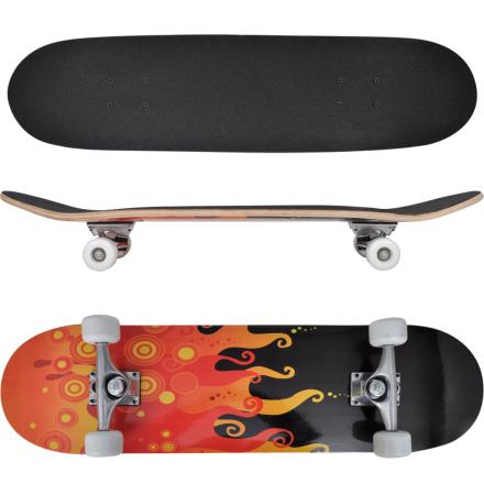 vidaXL skateboard oval 9 lag ahorn ilddesign 8