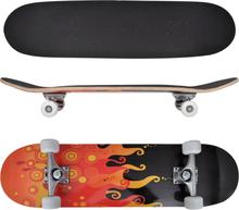 """vidaXL Skateboard Eld ovalformad lönnträ 8"""" 9 lager"""