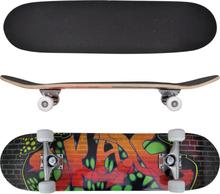vidaXL ovalt skateboard 9 lag ahorn graffitidesign 8