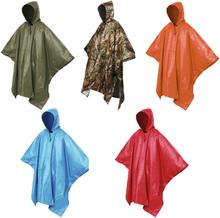 Waterproof One-Piece Rain Coat Poncho Cape Tarp for Camping Hiking Multifunctional Rain Coat
