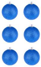 BasicsHome Julekugler Metallic Blå 8 cm 6 stk