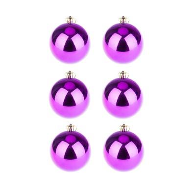 BasicsHome Joulupallo Kiiltävän Violetti 8 cm 6 kpl