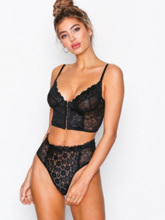 String - Svart NLY Lingerie Old Stories Highwaist