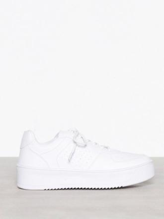 NLY Shoes Flirty Platform Sneaker Hvit