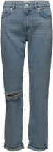 High Rise Straight Jeans Rette Jeans Blå French Connection
