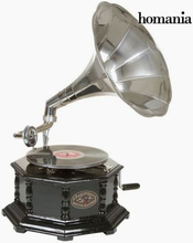 grammofon Åttahörnig Svart Silver - Old Style Samling by Homania