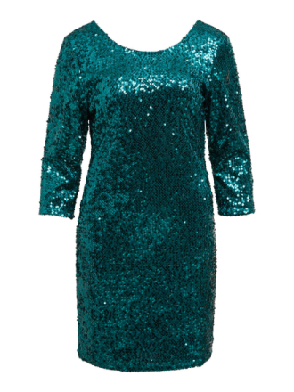 VILA 3/4 Sleeved, Sequin Dress Women Green