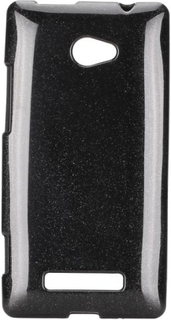 GlitterShell (Sort) HTC 8X Deksel