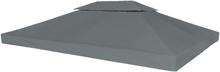vidaXL Paviljongtak med ventilering 310 g/m² 4x3 m antracit
