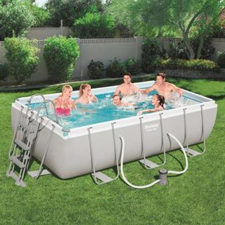 Bestway Power Steel pool rektangulær 404 x 201 x 100 cm 56441