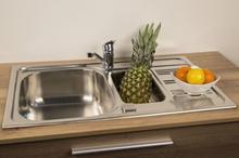 SinkSolution A LINE 800x500 1 1/2 rustfri stål køkkenvask