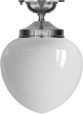 Badrumslampa - Taklampa Ekelundsfäste 100 droppe förnicklad