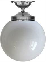 Badrumslampa - Taklampa Ekelundsfäste 100 förnicklad