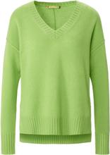 V-ringad tröja i 100% kashmir. från FLUFFY EARS grön
