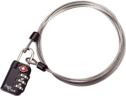 Eagle Creek 3-Dial TSA Lock & Cable graphite 2020 Reselås