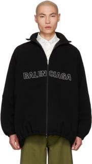 Balenciaga Black Wool Tracksuit Jacket