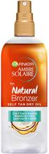 Köp Garnier Ambre Solaire Bronzer Oil, 150 ml Garnier Brun utan sol fraktfritt