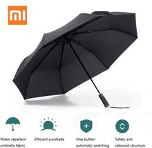 Xiaomi Mijia Umbrella Automatic Sunny Rainy Folded Bumbershoot Aluminum Windproof Waterproof Parasol Man Woman Summer Sunshade