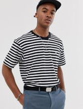Obey 89 Icon II striped t-shirt in black/white - Black multi