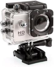 Sports Cam Full HD 1080p/720p - Med tillbehör Vit, White, Vit
