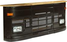 vidaXL Barbord massivt mangoträ lastbil mörkgrå