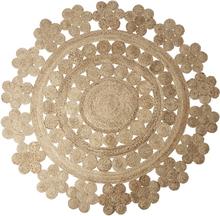 Handgjord Jutematta - Juni cirkel 150 cm diameter