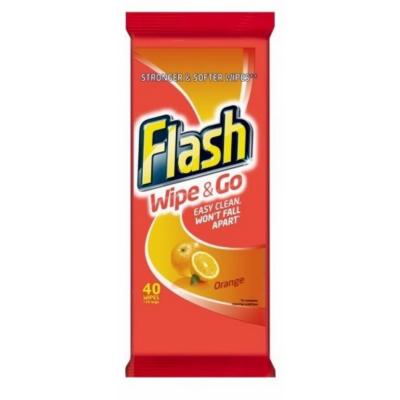 Flash Wipe & Go Wipes Orange 40 kpl