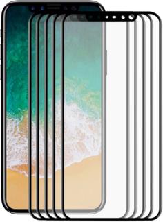 Heltäckande 3d displayskydd i härdat glas till iphone x/xs, 5-pa
