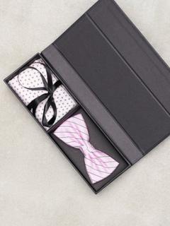 Amanda Christensen Pre Tie & Pocket Butterfly Pink
