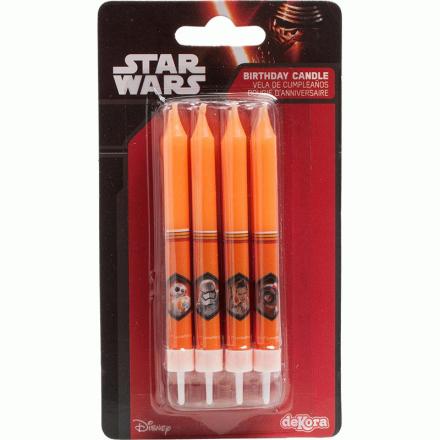 Star Wars lagkagelys, 9 cm, 8 stk - TheFairytaleCompany