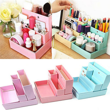 New High Quality Desk Decor Stationery Holder DIY Paper Board Storage Box Makeup Cosmetic Organizer New Pen Holder