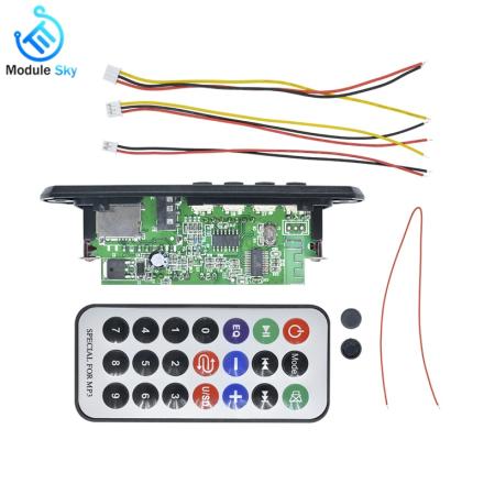 12V Bluetooth MP3 Decoder Board FM Audio Module USB TF Radio Remote Control SD Music Player Car Wireless WMA Decoder