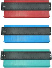 Alloet Multifunction Plastic Irregular Shaper Profile Ruler Gauge Duplicator Contour Scale Template Curvature Scale General Too