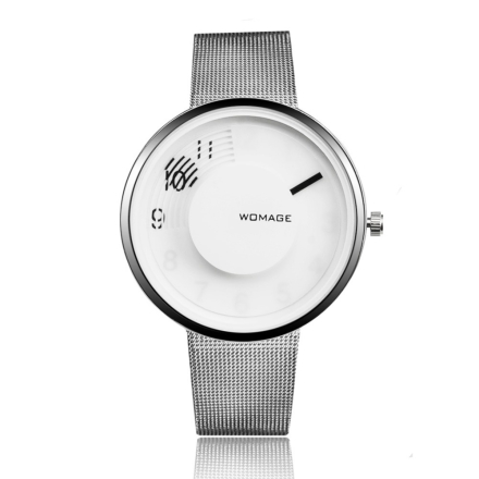 WoMaGe Fashion Watch Women Watches Steel Mesh Creative Women's Watches Ladies Watch Female Clock reloj mujer bayan saat