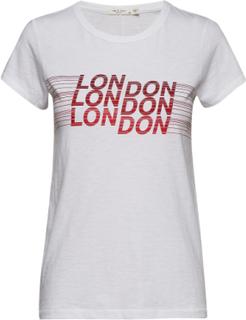 London Tee T-shirts & Tops Short-sleeved Hvit Rag & B