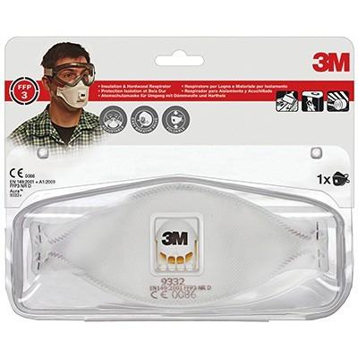3M støvmaske 9332C FFP3 m/ventil