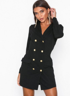 Ax Paris Long Sleeve Blazer Dress Skater kjoler Black