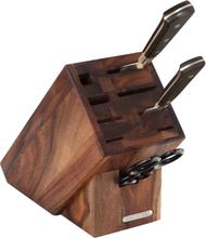Knivblock i akacia med 9 fack