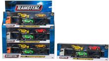 Teamsterz, Biltransport 26 cm med småbilar - guld/grön/gul