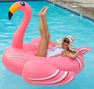 Flamingo oppblåsbar badeleke