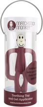 Matchstick Monkey - Zahnungshilfe (Beißring) - 100% Silikon - Weinrot