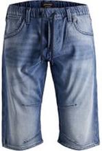 JACK & JONES Indigo Knit-sydda Långa Jeansshorts Man Blå