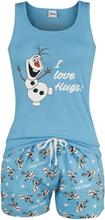 Frozen - Olaf - I Love Hugs -Pyjamas - flerfarget